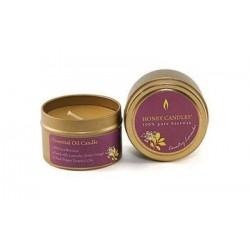 Boite de cire d'abeille aux huiles Essentielles de Lavande