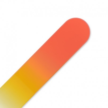 Mini crystal nail file orange yellow