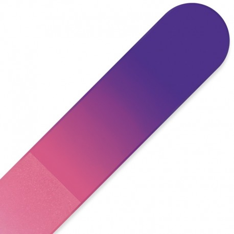 Large purple and pink crystal glass nail file