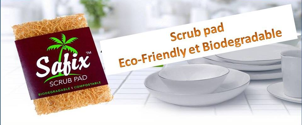 Scrub pad eco friendly made of coconut fiber